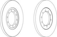 Комплект задних тормозных дисков FERODO DDF1537 (2 шт.)