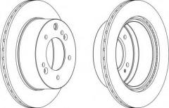 Фото 1 - Комплект задних тормозных дисков FERODO DDF1543 (2 шт.)