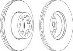 Комплект передних тормозных дисков FERODO DDF1554 (2 шт.)