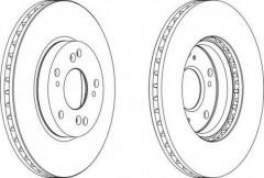 Комплект передних тормозных дисков FERODO DDF1557 (2 шт.)
