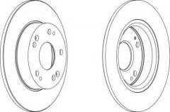 Комплект задних тормозных дисков FERODO DDF1558 (2 шт.)