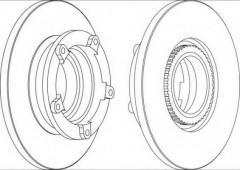 Комплект задних тормозных дисков FERODO DDF1573 (2 шт.)