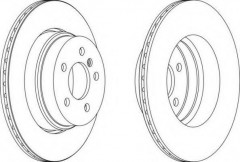 Комплект задних тормозных дисков FERODO DDF1583 (2 шт.)