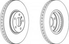 Комплект передних тормозных дисков FERODO DDF1584 (2 шт.)
