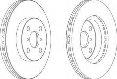 Комплект передних тормозных дисков FERODO DDF1587 (2 шт.)