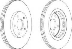 Комплект передних тормозных дисков FERODO DDF1589 (2 шт.)