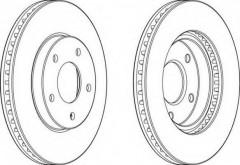 Комплект передних тормозных дисков FERODO DDF1599 (2 шт.)