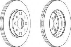 Комплект передних тормозных дисков FERODO DDF1603 (2 шт.)