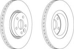 Комплект передних тормозных дисков FERODO DDF1607 (2 шт.)