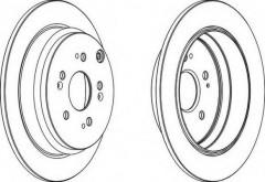 Комплект задних тормозных дисков FERODO DDF1608 (2 шт.)