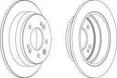 Комплект задних тормозных дисков FERODO DDF1618 (2 шт.)
