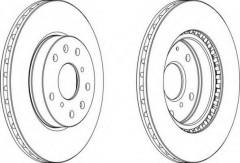 Комплект передних тормозных дисков FERODO DDF1620 (2 шт.)