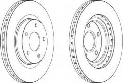Комплект передних тормозных дисков FERODO DDF1624 (2 шт.)