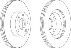 Комплект передних тормозных дисков FERODO DDF1630 (2 шт.)