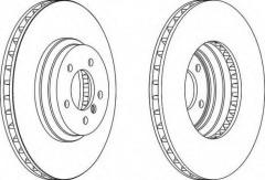 Комплект передних тормозных дисков FERODO DDF1634 (2 шт.)