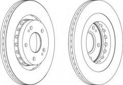Комплект передних тормозных дисков FERODO DDF1642 (2 шт.)