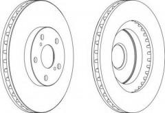 Комплект передних тормозных дисков FERODO DDF1646 (2 шт.)