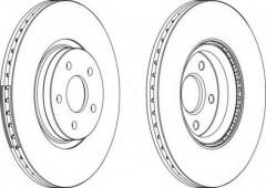 Комплект передних тормозных дисков FERODO DDF1649 (2 шт.)