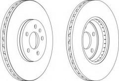Комплект передних тормозных дисков FERODO DDF1664 (2 шт.)