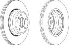 Комплект передних тормозных дисков FERODO DDF1701 (2 шт.)