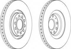 Комплект передних тормозных дисков FERODO DDF1705 (2 шт.)