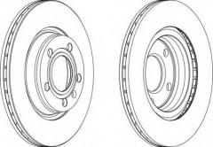 Комплект тормозных дисков FERODO DDF1708 (2 шт.)