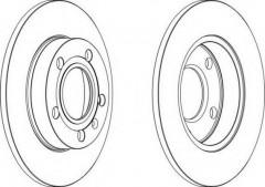 Комплект задних тормозных дисков FERODO DDF1709 (2 шт.)