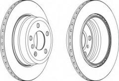 Комплект задних тормозных дисков FERODO DDF1715 (2 шт.)