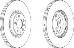 Комплект передних тормозных дисков FERODO DDF1747 (2 шт.)