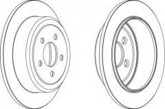 Комплект задних тормозных дисков FERODO DDF1760 (2 шт.)