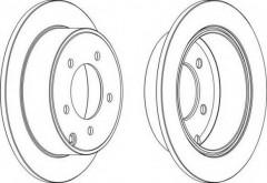 Комплект задних тормозных дисков FERODO DDF1762 (2 шт.)