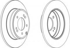 Комплект задних тормозных дисков FERODO DDF1787 (2 шт.)