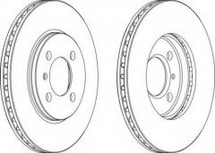 Комплект передних тормозных дисков FERODO DDF182 (2 шт.)