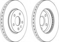 Комплект передних тормозных дисков FERODO DDF1869 (2 шт.)