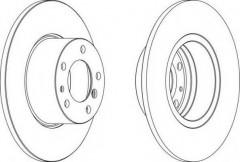 Комплект передних тормозных дисков FERODO DDF210 (2 шт.)