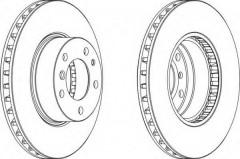 Комплект передних тормозных дисков FERODO DDF222 (2 шт.)