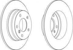 Комплект задних тормозных дисков FERODO DDF249 (2 шт.)