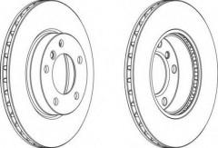 Комплект передних тормозных дисков FERODO DDF258 (2 шт.)