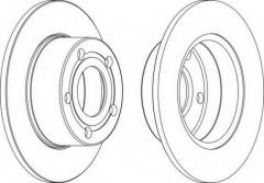 Комплект задних тормозных дисков FERODO DDF321 (2 шт.)