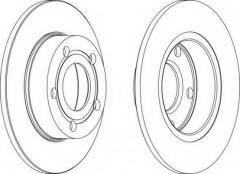 Комплект задних тормозных дисков FERODO DDF323 (2 шт.)