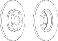 Комплект передних тормозных дисков FERODO DDF324 (2 шт.)