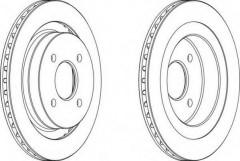 Комплект задних тормозных дисков FERODO DDF338 (2 шт.)