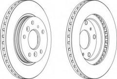 Комплект передних тормозных дисков FERODO DDF395 (2 шт.)