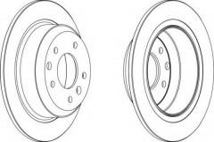 Комплект задних тормозных дисков FERODO DDF441 (2 шт.)
