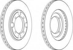 Комплект передних тормозных дисков FERODO DDF482 (2 шт.)