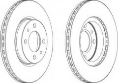 Комплект передних тормозных дисков FERODO DDF521 (2 шт.)