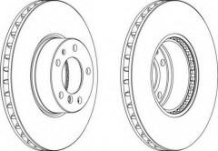 Комплект передних тормозных дисков FERODO DDF606 (2 шт.)