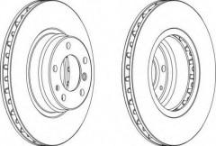 Комплект передних тормозных дисков FERODO DDF624 (2 шт.)