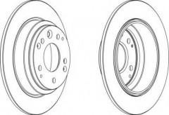 Комплект задних тормозных дисков FERODO DDF672 (2 шт.)