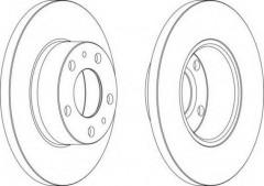 Комплект передних тормозных дисков FERODO DDF758 (2 шт.)